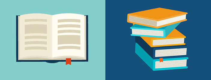 open book stack of books icon