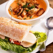 Soup and Sandwich for Lunch