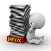 Full Inbox Person Banging Head