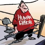 Cartoon of Man - Human Error